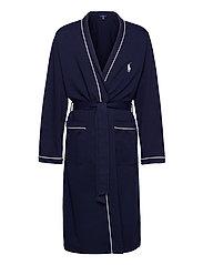 Cotton-Blend Jersey Robe - CRUISE NAVY