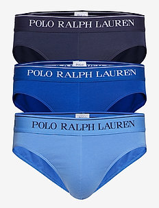 3 PACK LOW RISE BRIEFS - CR NVY/SAPHIR STA