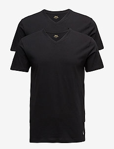 2 PACKS V-NECK - multipack - black