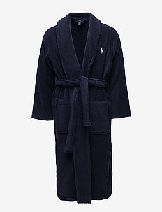 Shawl-Collar Robe - bademäntel - cruise navy
