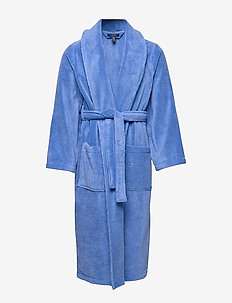 Cotton Terry Shawl Robe - szlafroki - bermuda blue