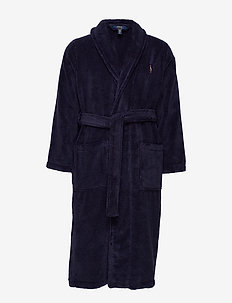 Cotton Terry Shawl Robe - CRUISE NAVY