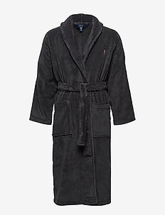 Cotton Terry Shawl Robe - morgenkåber - dark slate