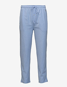 Knit Cotton Oxford Sleep Pant - HARBOUR ISLAND BLUE