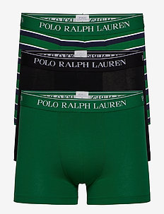 Stretch-Cotton Trunk 3-Pack - boxers - 3pk blk/grn strp/