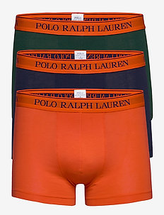 Stretch-Cotton Trunk 3-Pack - bokserit - 3pk nvy/col green