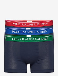 Stretch-Cotton Trunk 3-Pack - boxershorts - 3pk nvy grn/nvy r