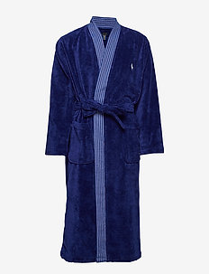 Light Weight Terry Kimono Robe - HOLIDAY NAVY