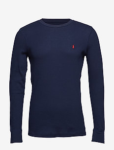WAFFLE-CRW-STP - long-sleeved t-shirts - cruise navy/heart