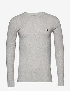 WAFFLE-CRW-STP - langermede t-skjorter - english heather