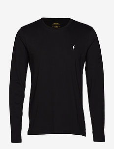 LIQUID COTTON-CRW-STP - basic t-shirts - polo black