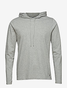 Cotton-Blend Sleep Hoodie - bluzy z kapturem - andover heather