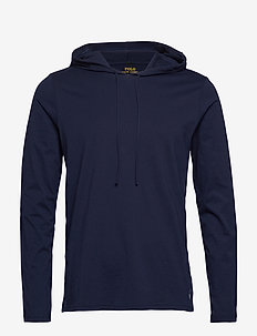 Cotton-Blend Sleep Hoodie - bluzy z kapturem - cruise navy