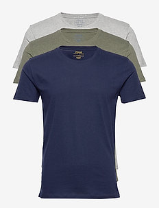 Cotton Crewneck 3-Pack - multipack - 3pk c navy/and ht