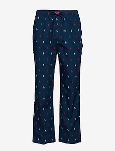 Cotton Jersey Sleep Pant - bottoms - cruise navy aopp