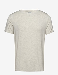 LT WT MODAL-CRW-STP - basis-t-skjorter - new sand heather