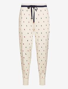 Allover Pony Cotton Jogger - pyjamas - chic cream nvy/re