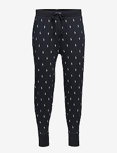 Allover Pony Cotton Jogger - pyjama's - polo black/nevis