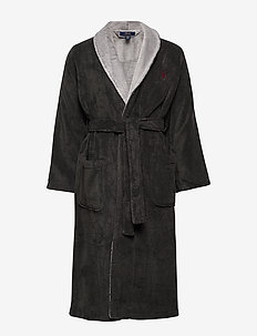 L/S SHAWL-ROBE - CHARCOAL HEATHER