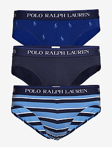Stretch-Cotton Brief 3-Pack - 3 PK NAVY/AOPP BE