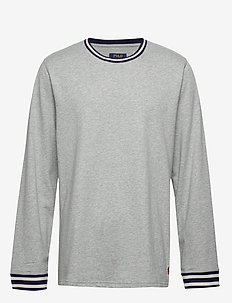 L/S CREW-CREW-SLEEP TOP - long-sleeved t-shirts - andover heather/c