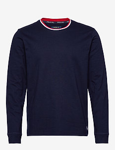 L/S CREW-CREW-SLEEP TOP - long-sleeved t-shirts - cruise navy
