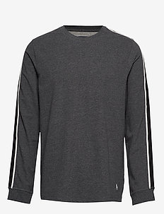 L/S CREW-CREW-SLEEP TOP - CHARCOAL HEATHER/