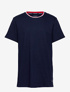 LOOP BACK JERSEY-CRW-STP - basic t-shirts - cruise navy