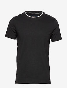 LOOP BACK JERSEY-CRW-STP - basic t-shirts - polo black
