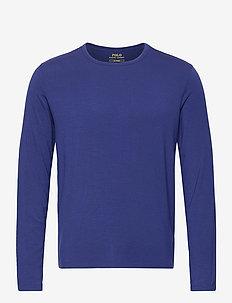 LT WT MODAL-CRW-STP - basic t-shirts - fall royal silver