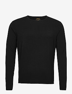 LT WT MODAL-CRW-STP - långärmade t-shirts - polo black silver