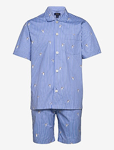 Polo Bear Striped Cotton Pajama Set - pyjamas - tennis bear strip