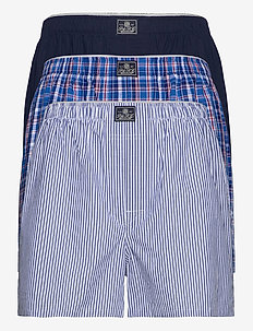 Cotton Boxer 3-Pack - boxers - mad strp/ray pld/