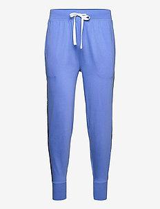Logo-Tape Cotton Jersey Jogger - underdele - bermuda blue