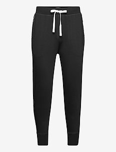 Logo-Tape Cotton Jersey Jogger - bottoms - polo black
