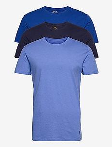 Slim Crewneck 3-Pack - basis-t-skjorter - 3pk navy/sapphire
