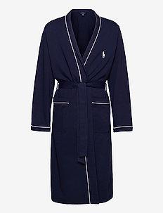 Cotton-Blend Jersey Robe - badjassen - cruise navy