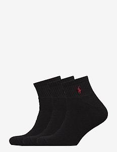 QUARTER-SOCKS-3 PACK - BLACK