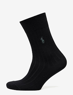Rib-Knit Trouser Socks - BLACK