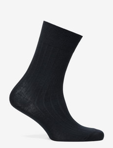 Rib-Knit Trouser Socks - NAVY