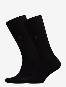 SCK SIZED RIBBED EGYPTIAN COT - chaussettes - black