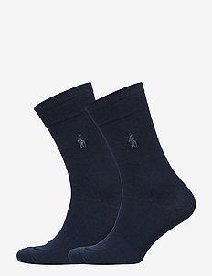 SCK SIZED 2 PK MERC CTN FLAT K - regular socks - admiral blue