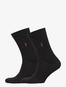 SCK SIZED 2 PK MERC CTN FLAT K - vanlige sokker - new black
