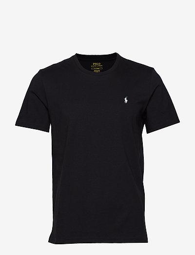 Cotton Crewneck Tee - basic t-shirts - polo black