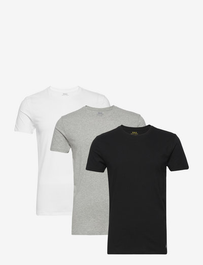 Slim Crewneck 3-Pack - basic t-shirts - 3pk white/black/a
