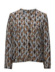Jacket Bright Leopard - LIGHT BLUE