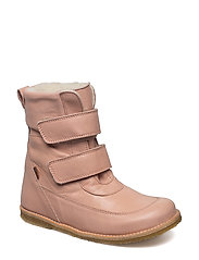 Winterboots with velcro - ROSE