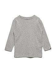 Basic Long Sleeve T-Shirt - GREY MELANGE