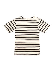 Maritime SS Tee Off White With Navy - OFF WHITE WITH NAVY