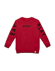 Basic Sweat - HAUTE RED W TEXT